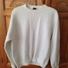 white crew sweatshirt by honors size large beautiful condition