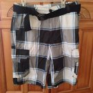 mens plaid shorts belted size 34 by Surplus