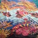 Beautiful Beach Print Pareo Shawl Wrap Cover Up