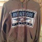 george & Martha brown hoodie zipper sweatshirt  medium beautiful condition