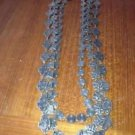 1940's vintage jewelry three strand necklace