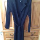 Inc petite Black belted Long sweater size small great over dresses pants skirts.