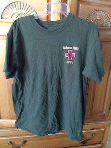 Mens Tshirt Jackson Hole Wyoming Paramedics khaki size large no label