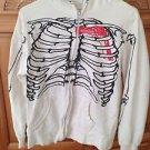 Spencers skeleton hoodie sweatshirt with face hood medium beautiful condition