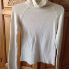 cream turtleneck sweater by xhiliration size small beautiful condition