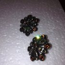 1940's converted vintage jewelry flower earrings to pierced posts