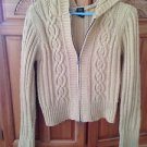 Golden tan Hooded Zipper Sweater Size Medium by Arizona Jean Company beautiful
