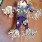 colorful adorable decorative scarecrow on wooden dowel beautiful condition