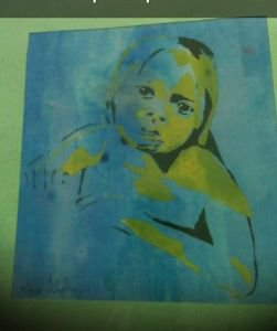 a child's love silkscreen print direct from artist