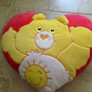 plush teddy bear stuffed animal pillow red & yellow