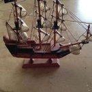 "Beautifully Detailed Wooden sailing ship 9.5"" marsh harbor abaco Island"