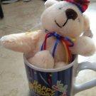 happy birthday mug with adorable stuffed bear