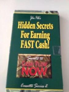 Hidden Secrets For Earning Fast Cash 4 Cassette Tapes By John Polk Secrets