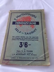 1908 Marlborough's Self Taught Hindustani By Capt C.A. Thimm Softcover Booklet