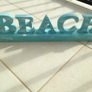 turquoise beach art free standing sign plaque