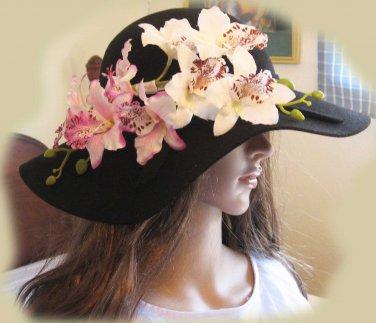Silk Orchid hair clip/pin/barrette, six colors
