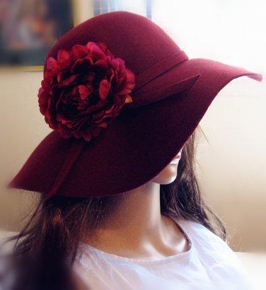 Large Silk Peony/Rose hair clip/pin/barrette, Wedding/ Hat etc. Accessory,  4.8'�-5''