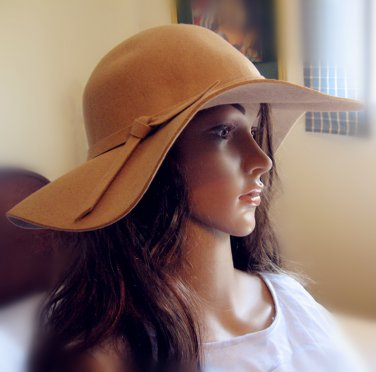 100% wool Large Lady/woman' s hat/ Capeline, 4 colors, one-size-fits-all