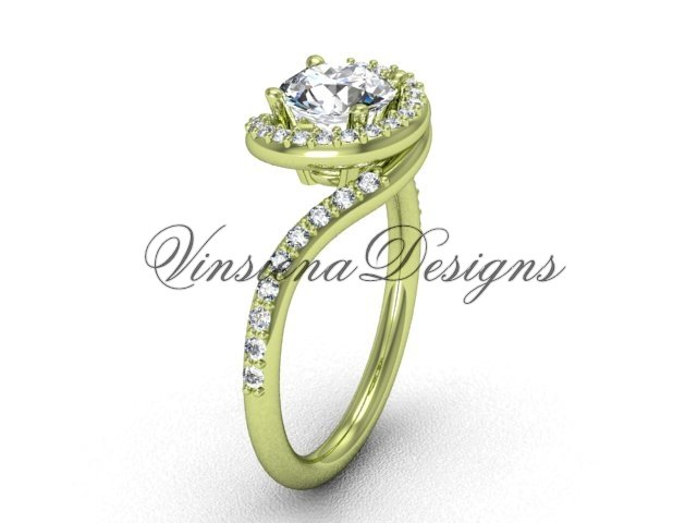 14kt yellow gold unique diamond engagement ring VD8199