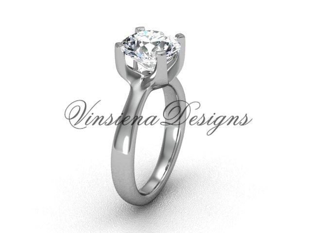 14kt white gold engagement ring VD10021