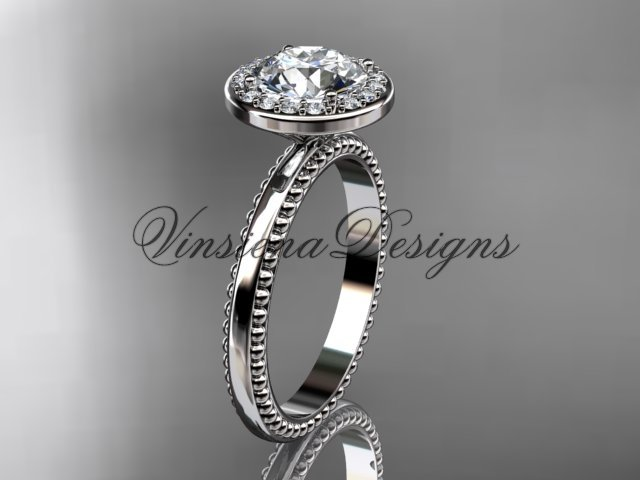 platinum engagement ring VD10078