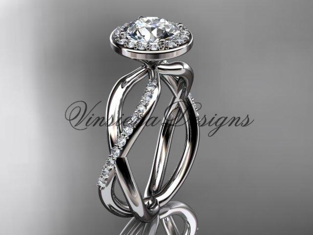 14k white gold diamond engagement ring VD10079