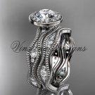 14k white gold diamond engagement ring, engagement set VD10081S
