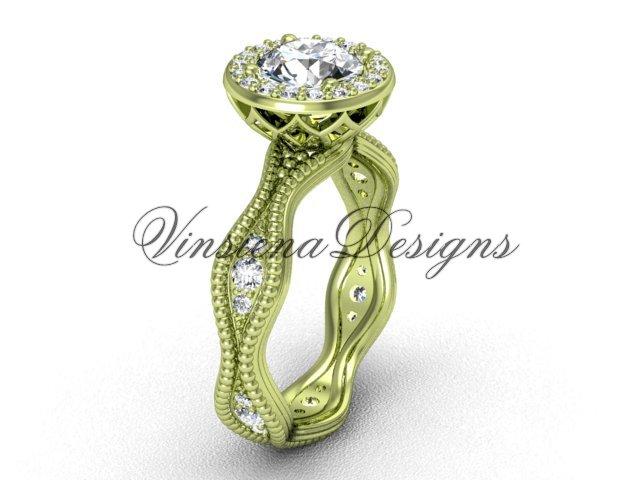 14kt yellow gold diamond engagement ring VF301003