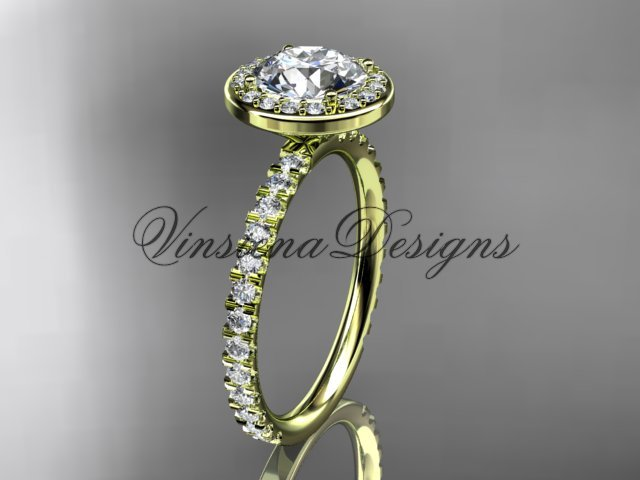 14k yellow gold engagement ring VD10082