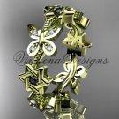 14kt yellow gold diamond, jewish Star of David ring, wedding band VH10018B