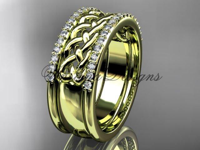 14kt yellow gold diamond wedding band VD208406B