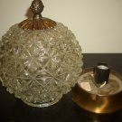 Vintage Crystal Quality Heavy Glass Globe Ceiling Light Hollywood Regency