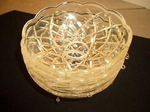 4 Vtg Chandelier parts Crystal Bobeche Prisms Lamp Repair Restore Restoration