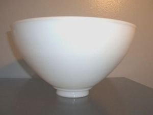 Large Vintage Antique White Milk Glass Floor Table Lamp Torchiere Diffuser Globe