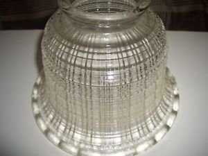 """Antique Diffuser Clear Holophane Waffle Glass Globe Shade Ceiling Light Lamp 3"""""""