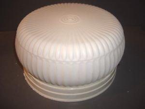 Vtg Antique Original Ceiling Light Fixture Mid Century Modern Shade White Mod