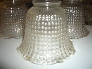 """3 Vintage Candlewick Clear Glass Globes Shades Lamp Light Chandelier Sconce 2"""""""
