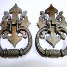 2 Bronze Brass Drawer Pulls Antique Hardware Vintage Dresser Handles Knobs