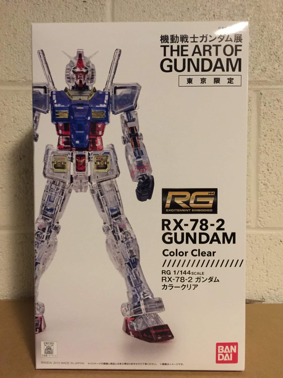 Bandai Rg 1 144 Rx 78 2 Gundam Clear Color The Art Of Tokyo Limited Kit