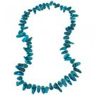 "Dyed Blue Cultured Freshwater Pearl Long Nugget 24"" Endless Necklace"