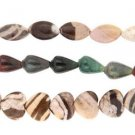 "Fancy Jasper Heart Marquise Drop Set of 3 15"" Bead Strand"