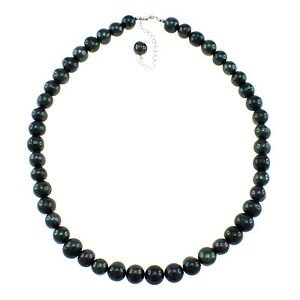 9mm Round, Army Green Cultured Freshwater Pearl, Strand, 19 Inches Long Necklace
