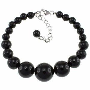 Pearlz Ocean 6-14mm Round Black Onyx 6.5 Inches, Beaded Strand Journey Bracelet