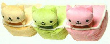 San-X Nyan Nyan Nyanko Jumbo Pudding Plush Set of 3