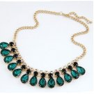 Gem Statement Gold Plated Necklaces & Pendants Choker Necklaces For Women