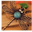 Retro Hollow Dragonfly Korean Long Paragraph Sweater Chain Pendant Necklace For Women