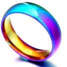 Rainbow Colorful Ring Titanium Steel Wedding Band