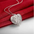 Silver Plated Heart Trendy Pendant Necklaces Jewelry