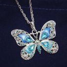 Beautiful Rhinestone Butterfly Long Necklaces Sweater Pendant Necklaces
