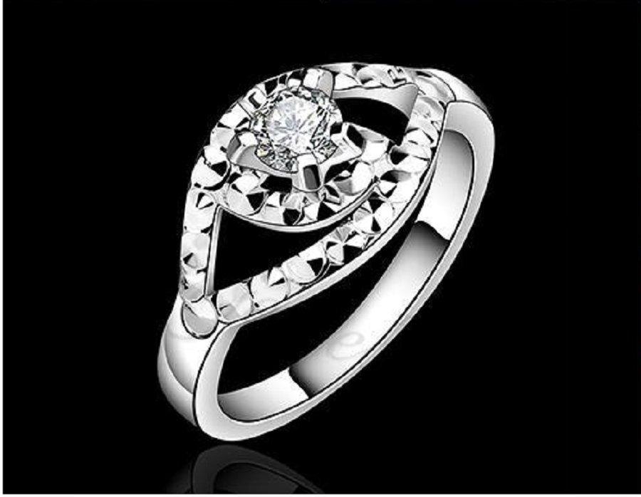 Silver plated New Design Wedding Finger Ring For Women